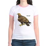 Golden Eagle Bird (Front) Jr. Ringer T-Shirt
