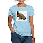 Golden Eagle Bird (Front) Women's Pink T-Shirt