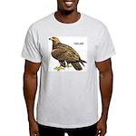 Golden Eagle Bird (Front) Ash Grey T-Shirt