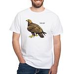 Golden Eagle Bird (Front) White T-Shirt