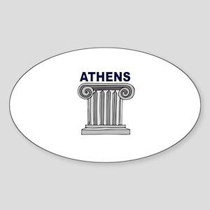 Athens, Greece Oval Sticker
