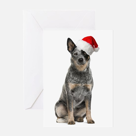 Santa Aussie Greeting Cards