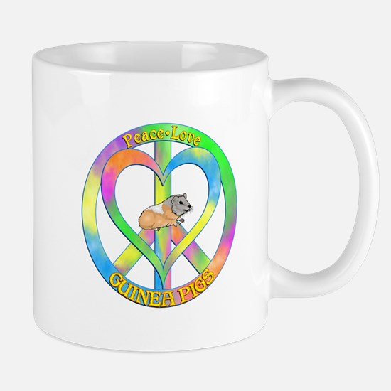 Peace Love Guinea Pigs Mug
