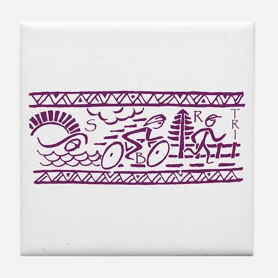 PURPLE TRI-BAND Tile Coaster