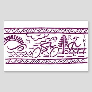 PURPLE TRI-BAND Rectangle Sticker