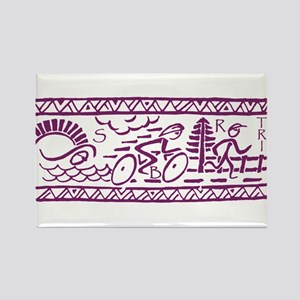 PURPLE TRI-BAND Rectangle Magnet