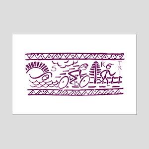 PURPLE TRI-BAND Mini Poster Print