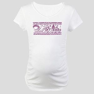 PURPLE TRI-BAND Maternity T-Shirt