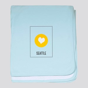 I Love Seattle baby blanket