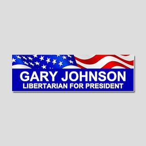 Gary Johnson For President Car Magnet 10 X 3