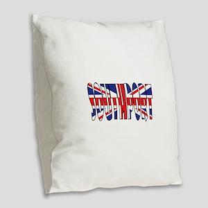 Southport Burlap Throw Pillow