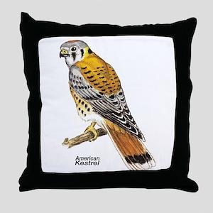 American Kestrel Bird Throw Pillow