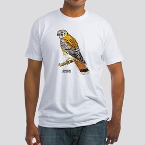 American Kestrel Bird (Front) Fitted T-Shirt