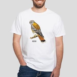 American Kestrel Bird (Front) White T-Shirt