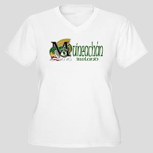 Monaghan Dragon (Gaelic) Women's Plus Size V-Neck