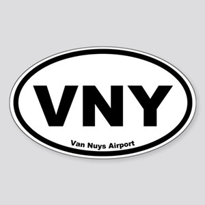 Van Nuys Airport Oval Sticker