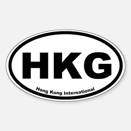 Hong Kong International Oval Decal