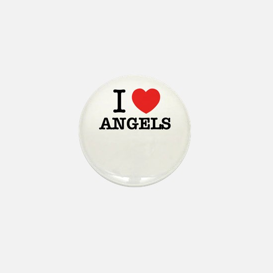 I Love ANGELS Mini Button
