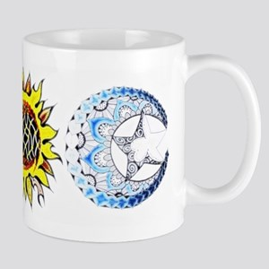 Sun & Moon tattoo coloured Mugs