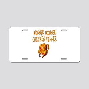 WINNER WINNER CHICKEN DINNE Aluminum License Plate