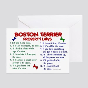 Boston Terrier Property Laws 2 Greeting Card