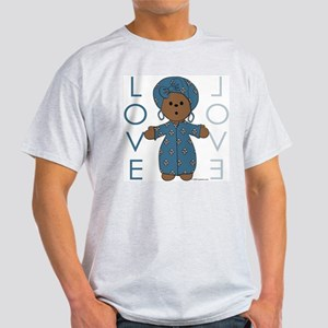 Ethnic Love Doll - no. 3 Ash Grey T-Shirt