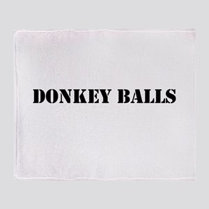 Donkey Balls Throw Blanket
