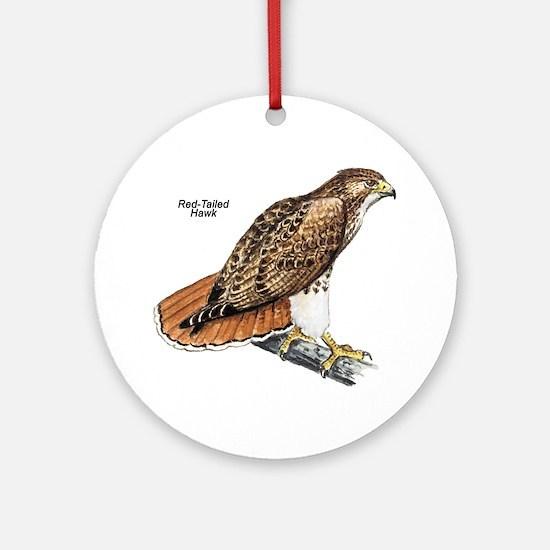 Red-Tailed Hawk Bird Keepsake (Round)
