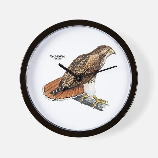 Red-Tailed Hawk Bird Wall Clock