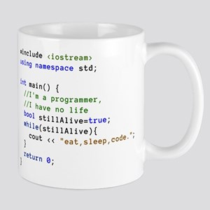 Eat, Sleep, and Code Re Stainless Steel Travel Mug