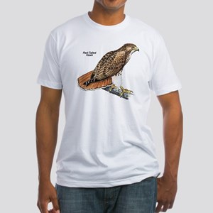 Red-Tailed Hawk Bird (Front) Fitted T-Shirt
