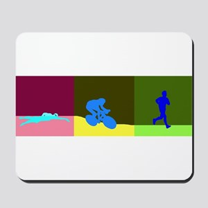 TRIATHLON SILHOUTTE DARK Mousepad