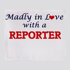 Madly in love with a Reporter Throw Blanket