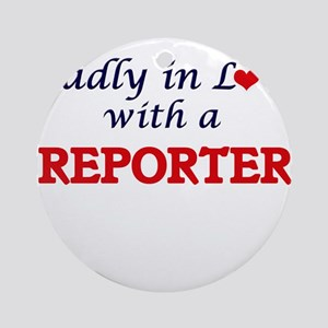 Madly in love with a Reporter Round Ornament