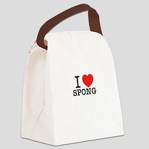 I Love SPONG Canvas Lunch Bag