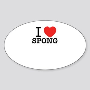 I Love SPONG Sticker