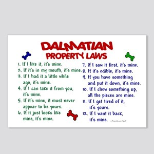 Dalmatian Property Laws 2 Postcards (Package of 8)