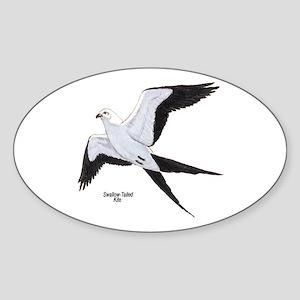 Swallow-Tailed Kite Bird Oval Sticker