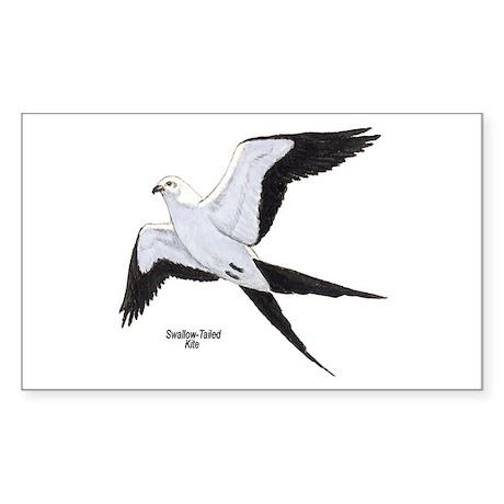 Swallow-Tailed Kite Bird Rectangle Sticker