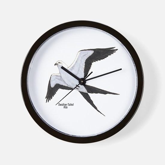 Swallow-Tailed Kite Bird Wall Clock