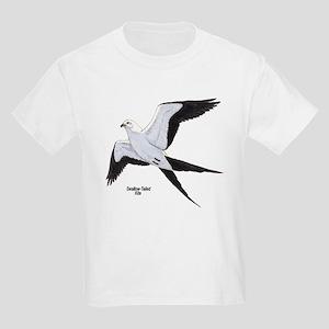 Swallow-Tailed Kite Bird (Front) Kids T-Shirt