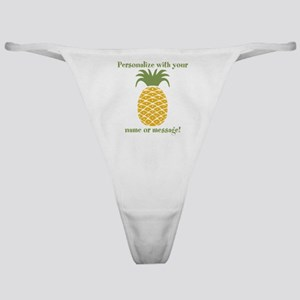 PERSONALIZED Pineapple Classic Thong