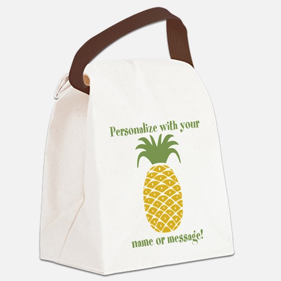 PERSONALIZED Pineapple Canvas Lunch Bag