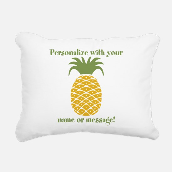 PERSONALIZED Pineapple Rectangular Canvas Pillow
