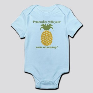 Pineapple baby clothes accessories cafepress baby personalized pineapple body suit negle Gallery