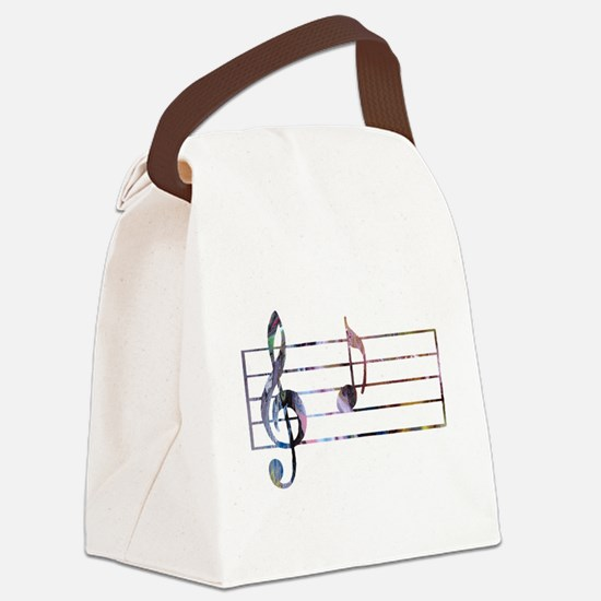 Musical Note Canvas Lunch Bag