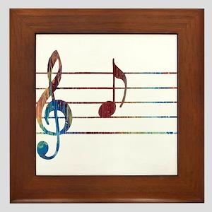 Musical Note Framed Tile