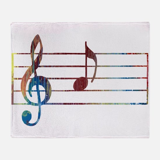 Musical Note Throw Blanket