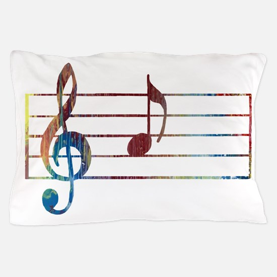 Musical Note Pillow Case