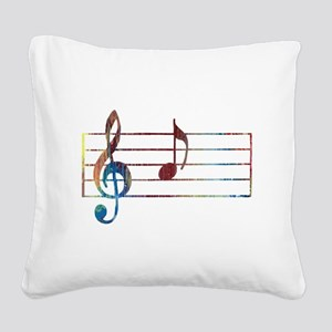 Musical Note Square Canvas Pillow
